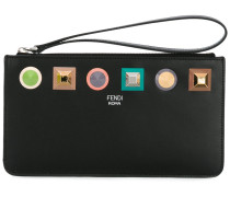 - 'Rainbow' Clutch - women - Kalbsleder/metal