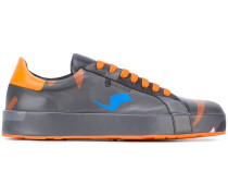 abstract print sneakers