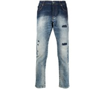 Schmale Mick Distressed-Jeans