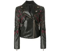 rose embroidered jacket