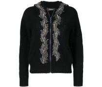 embellished hooded cardigan