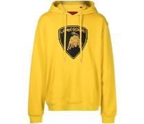 Raging Bull-print cotton hoodie
