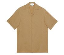 check GG pattern bowling shirt
