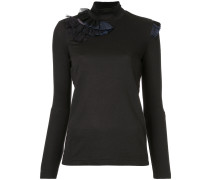 frill detail turtle neck