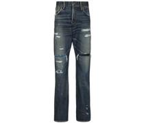 'Social Sculpture' Distressed-Jeans
