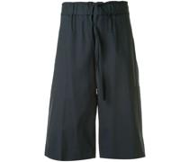 Popeline-Shorts mit Stretchbund