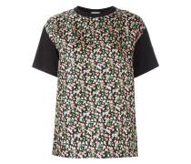 floral print front panel T-shirt