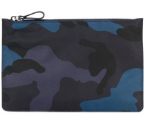Clutch mit Camouflage-Print - men - Nylon