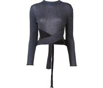 Lurex-Pullover mit Taillenschnürung