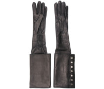 long buttoned cuff gloves