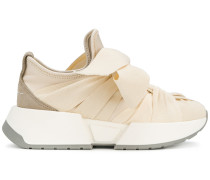 bow front gathered effect sneakers