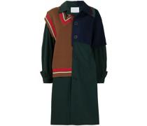 Mantel mit gestricktem Einsatz