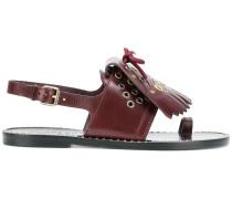 Kiltie Fringe Leather Sandals