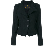 wide lapel fitted jacket