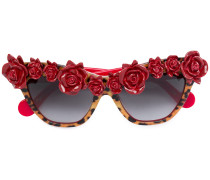 Sonnenbrille mit Rosendetails