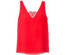 Bluse mit Herz-Applikation