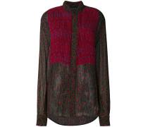 leopard print pleated blouse