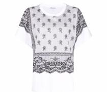 T-Shirt mit Spitzen-Print