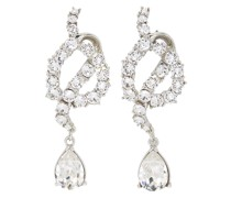 Knot crystal-embellished drop earrings