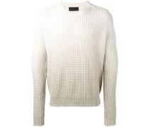 Grobgestrickter Pullover mit Farbverlauf