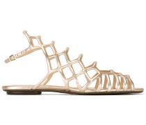 Sandalen in Gitter-Optik - women