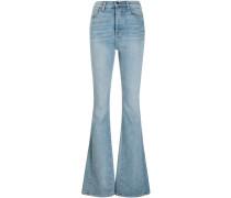 Bootcut-Jeans mit hohem Bund