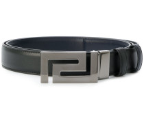 reversible Greek Key buckle belt