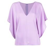 Georgette-Bluse mit Falten
