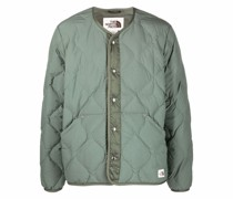 M66 quilted feather-down jacket