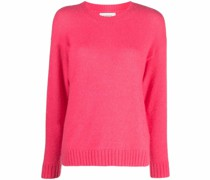 fine-knit ribbed-trim jumper