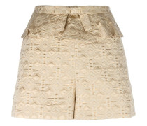 Jacquard-Shorts mit gerüschtem Bund - women