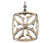 Großer 18kt 'Maltese' Weißgoldanhänger mit Rhodium und Diamanten