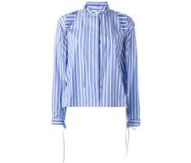 Gestreiftes Hemd mit Cut-Outs - women