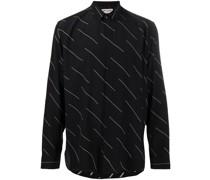 stripe print detail shirt