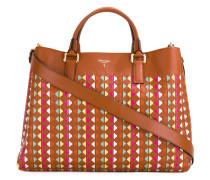 Gemusterte Handtasche mit Logo