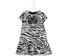 Kleid mit Tiger-Stickerei