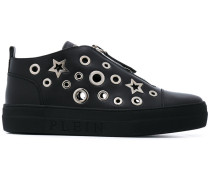star and eyelet trainers - women