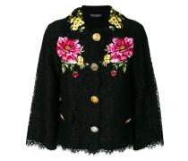 lace jacket with floral appliqués