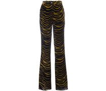 Ausgestellte Hose mit Tiger-Print