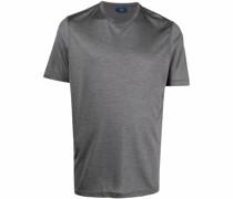 short-sleeve silk T-shirt