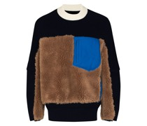 Pullover mit Faux Shearling