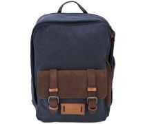 - canvas backpack - men - Baumwolle/Wildleder