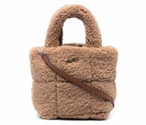faux-shearling tote