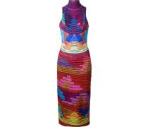 Ärmelloses Kleid mit hohem Kragen