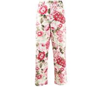 P.A.R.O.S.H. Cropped-Jeans mit Blumen-Print