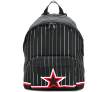 striped star print backpack