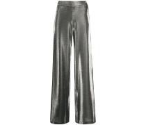 Metallic-Hose mit weitem Bein