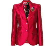 Giacca crest detail blazer