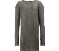 long sleeved knitted sweatshirt