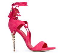 Sandalen mit verziertem Absatz - women